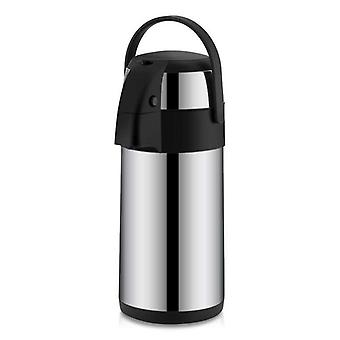 Stainless Steel Airpot With Double Wall, Vacuum Insulation Child Lock Coffee