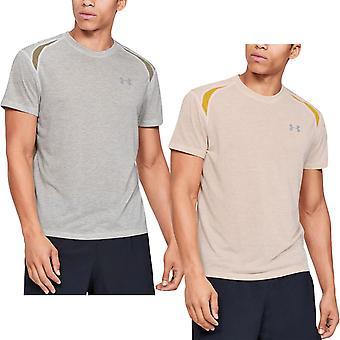 תחת שריון Mens Streaker 2.0 צווארון צוות שרוול קצר פועל חולצת טריקו טי העליון