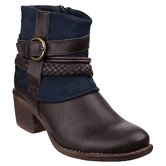 Divaz Vado Womens Ankle Boots Navy UK Size