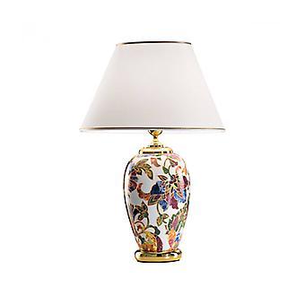 Lámpara De Mesa Damasco En Oro De 24 Quilates 1 Luz