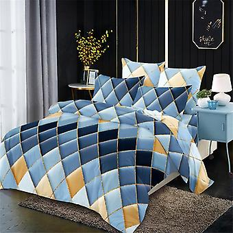 Luxury Duvet Cover Set, Fashion Geometry Series Bedding Sets-a