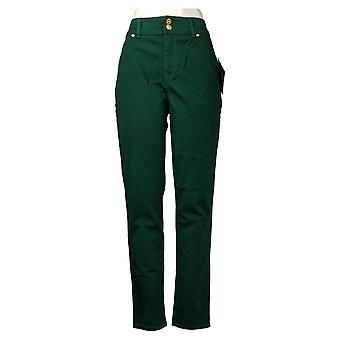 IMAN Global Chic Women's Pants 360 Slim Skinny Green 703-120