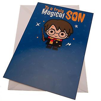 Harry Potter Son Magic Birthday Card