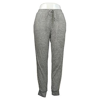 Flora Nikrooz Women's Cozy Fleece Jogger Pajama Pants Gray