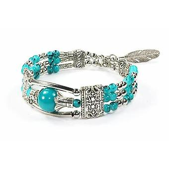 Feather Charm And Beads Bracelet