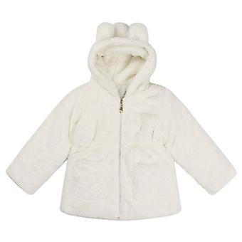 Soft Princess Girls Cute Bunny Winter Outerwear White 130cm