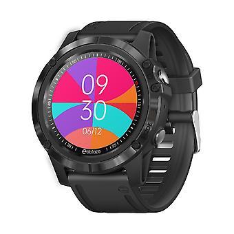 ساعة ذكية 1.3'' HD شاشة تعمل باللمس اللون 360 * 360، الصحة واللياقة البدنية، 25 يوما البطارية الحياة الذكية ووتش، أسود