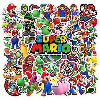 50x Pegatinas y Pegatinas - Super Mario