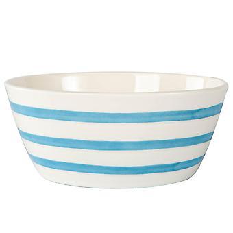 Blue Stripe Cereal Bowl Patterned Porcelain Kitchen Dessert Dishes 14cm