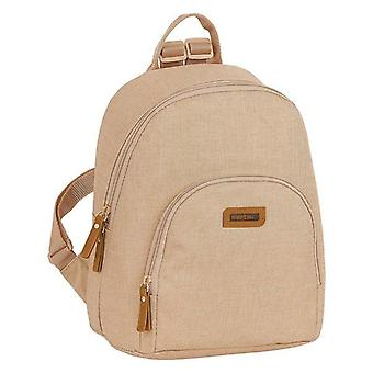 Backpack with strings safta beige