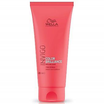 Wella ammattilaisten Invigo väri Brilliance hoitoaine värjätty ja normaali hiukset 200 ml