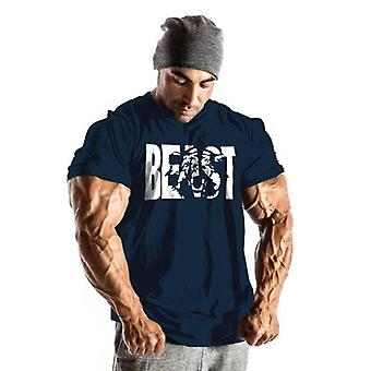 Gym T-shirt, Men Sport Training Cotton T-shirt