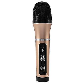 Hudobný mikrofón prenosný mikrofón spievajúci karaoke stroj ručný reproduktor pre domácu párty vnútorné ktv narodeniny zlaté