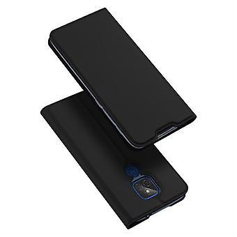 Dla moto g9 play/e7 plus case shockproof anti fall flip flap cover black