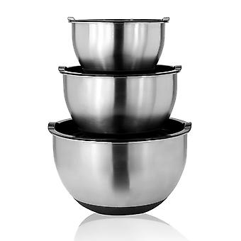 Stainless Steel Mixing Bowls - Set of 3 | M&W
