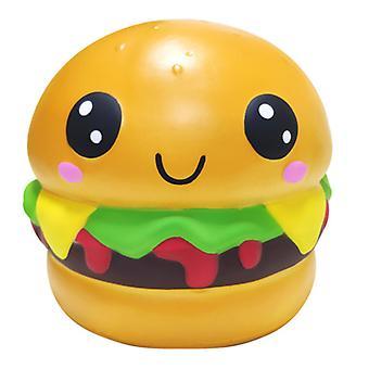 Langzame rebound Oversized emoji hamburger squishy, stressverlichtend speelgoed voor kinderen, volwassene