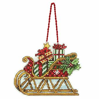 Dimensions Counted Cross Stitch: Ornament: Sleigh
