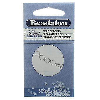 Beadalon Pärla Stötfångare, Oval Silikon distanser 2mm, 50 stycken, Klar