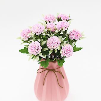 5Pcs flores artificiales ramo decoración casa decoración flores secas regalo de flores falsas para las mujeres