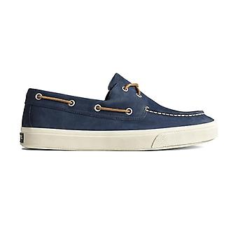 Sperry Bahama Plushwave Mens Leather Boat Shoes Navy