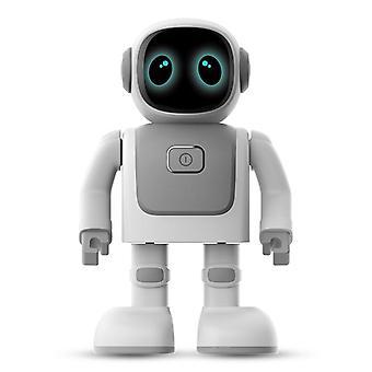 Multifunktionaler Steuerroboter USB Kindheitsteuerung kann singen und tanzen Roboter| RC Roboter (Silber grau)