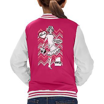 Sindy Shes Wonderful Shes Fashionable Shes Fun Kid's Varsity Jacket