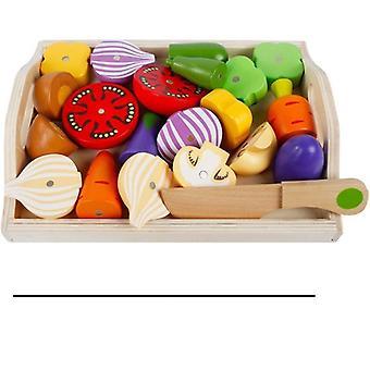 kjøkken late leketøy tre pedagogisk leketøy for å kutte frukt vegetabilsk sett