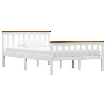 Marco de la cama Sólido Pino Blanco 120X200 cm