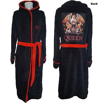 Queen - Classic Crest Unisex Bathrobe - Black
