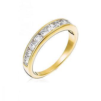 Alliance Ring 'Rail' Geel Goud en Diamanten