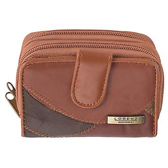 Ladies Small Patchwork Dual Zipped Coin Purse