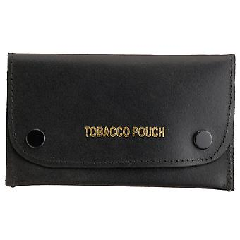 Leather Dual Popper Leather Tobacco Pouch
