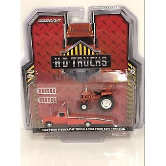 1969 Ford F350 Rampe Camion avec Non-positionnement 1985 Ford 5610 Tracteur 1:64 33160A