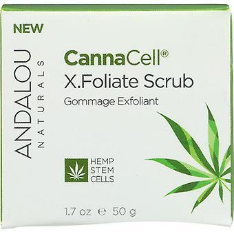 Andalou Naturals CannaCell X.Foliate Scrub, 1.7 Oz