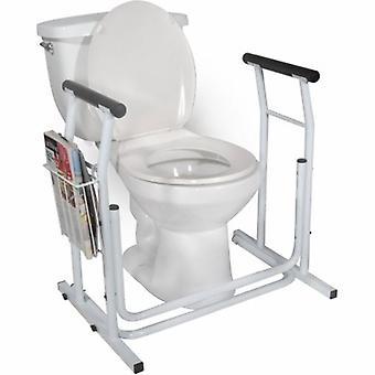 Drive Medical WC Turvakisko ajaa valkoinen, valkoinen kotelo 2