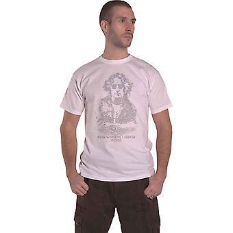 John Lennon T Shirt Peace Symbol Portrait Logo new Official Mens White