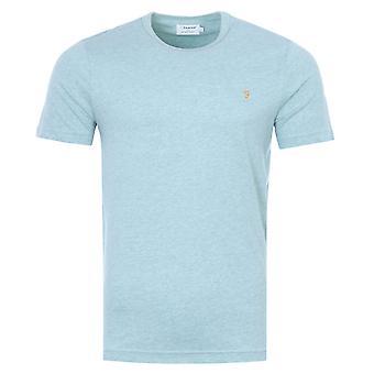 Farah Danny Organic Cotton Slim Fit T-Shirt - Green Mist Marl