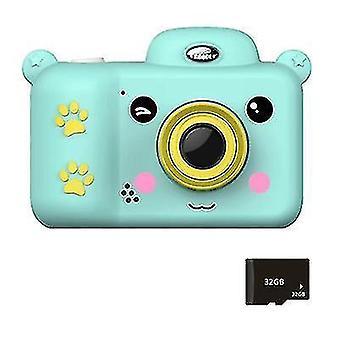 Kids Digitaalikamera Kids Toys 2,4 tuuman HD-näyttö 32 Gt:n SD-kortilla (sininen)