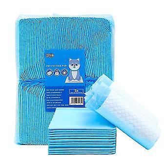 50pcs 100pcs Cucciolo a prova di perdite Pee Pad Sthickened Strong Absorbent Pet Diapers(S100)
