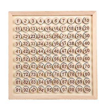 עץ מונטסורי צעצועים חינוכיים ספירת שולחן גן מתמטיקה לוח משחק   צעצועים מתמטיים