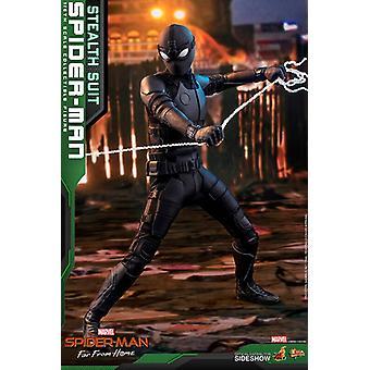 Spider-Man Spider-Man Stealth Suit Movie Masterpiece Series Figure