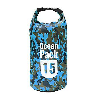 Sac étanche de 15L camping rafting stockage sac sec sac de natation sac de plongée léger flottant