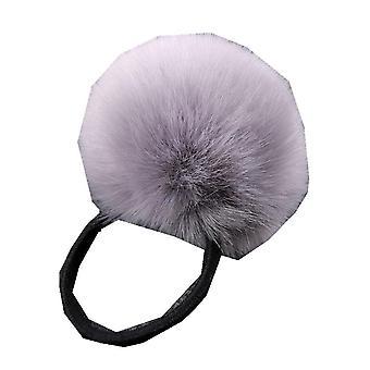 6PCS יפה טבעות שיער חיקוי ארנב פרווה קטיפה שיער אלסטי חבל מחזיק קוקו בנות פומפום