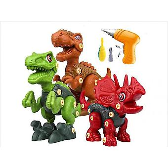 Kids Electric Drill Dinosaur Building Set Electric Drill Construction Toy Christmas Gift Dinosaur Toy
