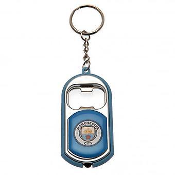 Manchester City FC llavero linterna destapador