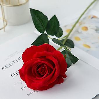 5Pcs artificial flowers bouquet beautiful silk roses wedding home table decor arrange fake plants valentine's day present