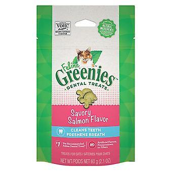 Greenies Feline Natural Dental Treats Tempting Salmon Flavor - 2.5 oz