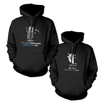 Death Eater And Ghost Couple Hoodies Halloween Hooded Sweatshirts