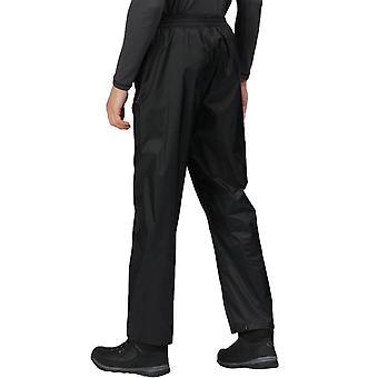 Regatta Mens לארוז אותו בחוץ הליכה עמיד למים מעל מכנסיים - שחור