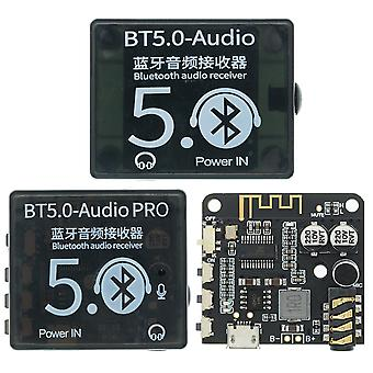 Mini bluetooth 5.0 decoder board audio receiver bt5.0 pro mp3 lossless player wireless stereo music amplifier module with case ep259